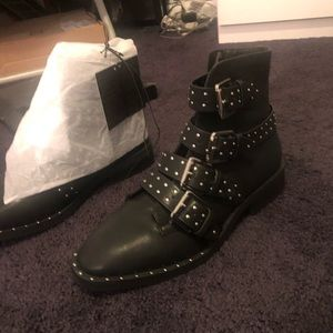 Forever 21 studded combat boot